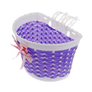 Bicycle Bike Front Handlebar Basket Removable Holder Container with Bowknots