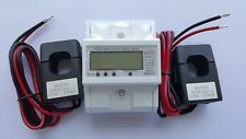 120/480V Electric KWh Meter Din rail Up to 7500 Amps CTs. 2x200 Amps. CTs Incld.
