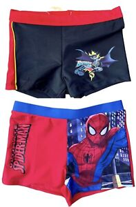 Spider-Man Batman Boys Kids Swim Shorts Swimming Trunks 2-8 years