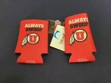 New! Set of 2 Espn Utah Utes Koozie Can Soda Beer Cozy Holders Football Red Nwt