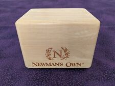 Newman's Own Wooden Recipe Box - With Recipe Contest Certificate of Appreciation