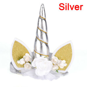 1Pc Glitter Unicorns Horn Headband Kids Unicorns Party Hair Accessories DecoV FJ