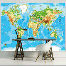 PAPIER Fototapeten Fototapete Tapete Landkarte Globus Welt Karte Foto 3FX10250P4