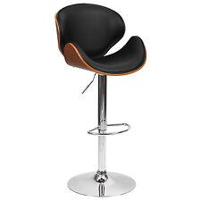 Barstool chaise salle à manger en noyer FAUX CUIR PU restaurant hôtel maison