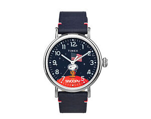 Timex x Space Snoopy - Standard 40mm Leather Strap Watch TW2T92200JR