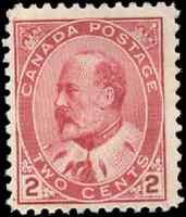 Canada #90 mint F-VF OG VLH inclusions 1903 King Edward VII 2c carmine CV$60.00