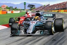 Print on paper Mercedes W08 F1 #44 Lewis Hamilton (GBR) Spanish GP Nagtegaal OE