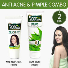 Roop Mantra Anti Acne Pimple Combo Zero Pimple Gel 15gm + Neem Face Wash 115ml