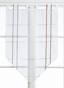 Scheibengardine Bistrogardine Kurzgardine Kuvert 2240 60 x 90 / 90 x 90 weiß