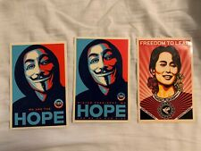 Shepard Fairey Sticker Bundle Obey Giant Hope Freedom