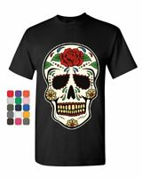 Sugar Skull Calavera T-Shirt Dia de los Muertos Day of the Dead Mens Tee Shirt