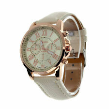 GENEVA BRAND CHRONOGRAPH STYLED WOMEN'S WRIST WATCH - CREAM
