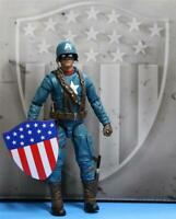 Marvel Legends Ultimate CAPTAIN AMERICA 6-Inch Action Figure NO Motorcycle