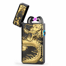 3D Scorpion USB Electric Dual Arc Flameless Torch Rechargeable Windproof Lighter