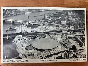 (58)RPPC AERIAL VIEW FESTIVAL SITE FESTIVAL OF BRITAIN 1951