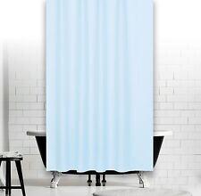 Rideau de douche en tissu bleu clair 240 large x 230 Haut extra longue