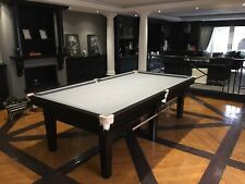 9ft  Contemporary Snooker table in Satin Black Finish