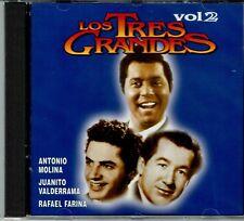 Los Tres Grandes Antonio Molina Juanito Valderama Farina  Vol 2  NEW SEALED CD