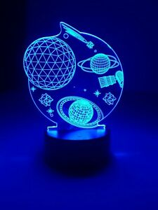 """Creative 3D Visualization Lamp Space Solar System 7 Colors 7"""" Tall"""