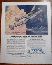 Desert Heat to Arctic Cold P-38 Fighter Passes Tests WWII Ad
