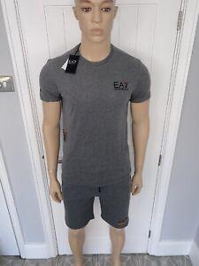 "Mens Armani Tshirt & Short Set XLarge 42""Chest 36""waist Grey Ea7 Bnwt £79.99"
