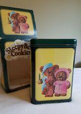 "Vintage 1987 Parco Foods Inc Empty Collector's Tin w/Box -""Sleepy Bear Cookies"""