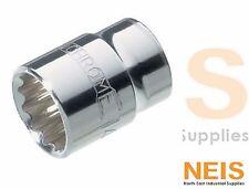 "Sidchrome Drive Socket 1/2""  8mm to 30mm 12 Point Metric Socket SCMT14225 -14247"