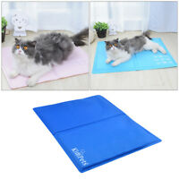 Indoor Pet Cooling Ice Mat Pad Cooling Pet Bed for Summer Dog Cat Puppy U9y4