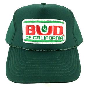Vtg Bud Of California Patch Cap Logo Farm All Foam Snapback Trucker Baseball Hat