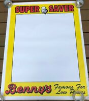 "Benny's Store Advertisement Sign - RI, Mass. Large 35"" x 45"""