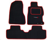 Honda Civic Type R EP3 2001-2006 tailored car mats black with red trim
