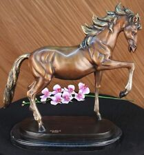 ORIGINAL GORGEOUS REAL BRONZE HORSE STALLION SCULPTURE STATUE NUMBERED FIGURINE