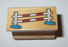 Horse Jump Rubber Stamp Blocks Poles Fence Wood Mounted Farm Animals #2