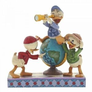 Disney Traditions Navigating Nephews Huey Dewie 7 Louie Figurine 6001286 New
