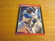 Jerry Browne Autographed 1989 Donruss #529 Card MLB Baseball Texas Rangers