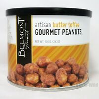 Belmont Peanuts Artisan Butter Toffee Gourmet Jumbo Crunchy 10oz (283g) Made USA