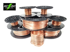"""16 AWG Gauge Bare Copper Wire Buss Wire 100' Length 0.054"""" Natural"""