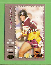1994 MASTERS RUGBY LEAGUE CARD #9  TERRY MATTERSON, BRISBANE BRONCOS
