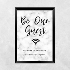 wifi password be our guest PRINT ONLY a4 Gift Picture wall art