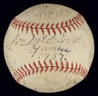 1937 New York Yankees World Series Champions Team Signed Baseball PSA DNA COA