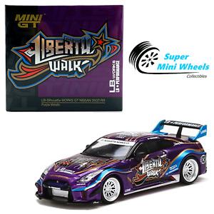 Mini GT 1:64 LB-Silhouette WORKS GT NISSAN 35GT-RR Ver.1 (Purple Metallic) #245
