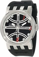 INVICTA DNA ANALOG DATE BLACK DIAL BLACK SILICONE STRAP MEN'S WATCH 10396 NEW