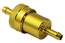 Motorcycle Fuel Filter - Gold -  Inline to fit 6mm fuel pipe