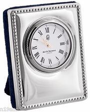 NEW ARI D NORMAN STERLING SILVER MINIATURE DESK CLOCK HALLMARK FATHERS DAY XMAS