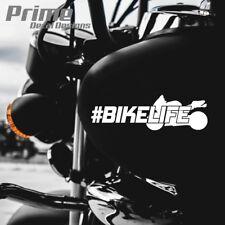 Bike Life Hashtag Stunt Sports Bike Motorcycle Window Wall Vinyl Sticker Decal