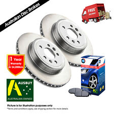 FOR FORD Falcon AU II, AU III REAR Disc Rotors (2) & Brake Pads (1)