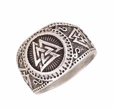 Valknut Viking Rune Norse Ring Size V