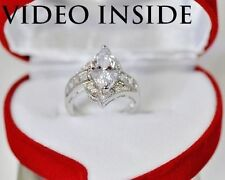 Solitaire with Accents Marquise Excellent Fine Diamond Rings