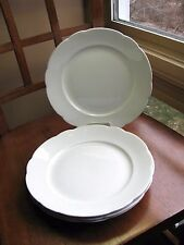 John Maddock Sons Royal Vitreous Scallop WHITE Plate LOT 4 Antique 19C Iron Sto