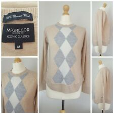 McGregor Pure Merino Wool Argyle Golfer Blogger Jumper Medium 10 12